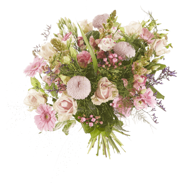 Sympathy bouquet with pink flowers