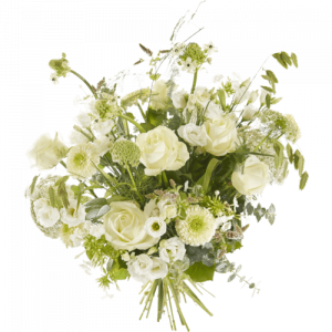 White sympathy bouquet Compassion