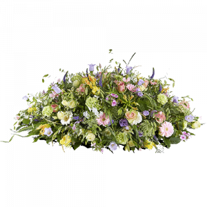 Beautiful oval flower arrangement called 'Memory'