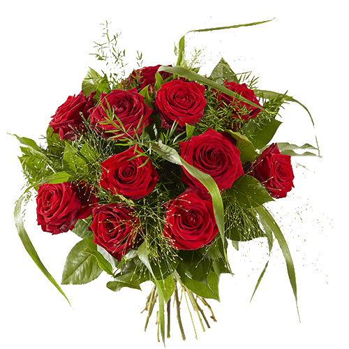 Bouquet with lovely red roses