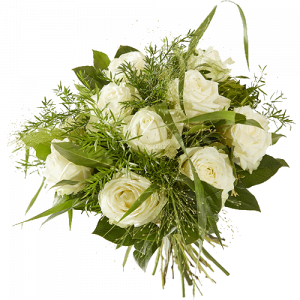 Bouquet with lovely white roses
