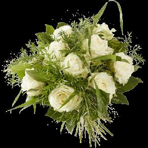 Boeket Lieflijk witte roos