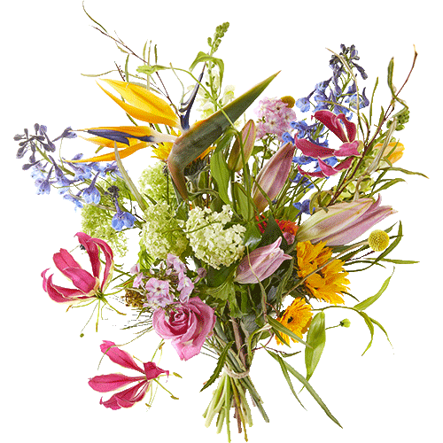 Picked bouquet seize the day with cheerful seasonal flowers