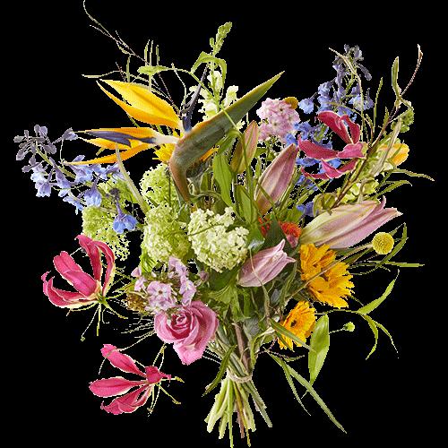 Plukboeket Pluk de dag met vrolijke springerige bloemen