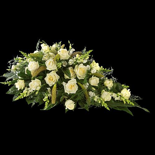Rouwstuk subliem van witte bloemen