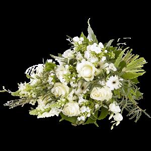 Rouwboeket Stilte met witte bloemen