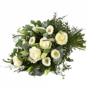 Funeral bouquet serene with white flowers