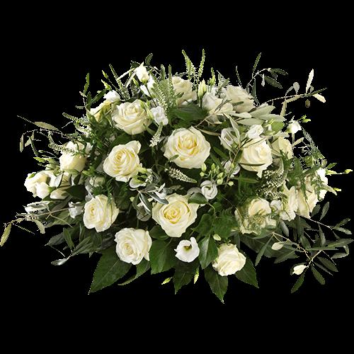 Rouwstuk Idyllisch van witte rozen