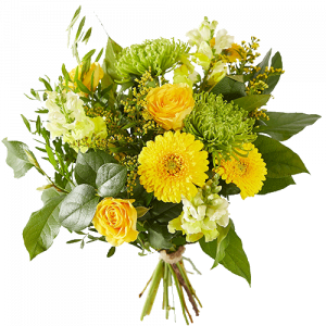 Mixed bouquet with yellow flowers