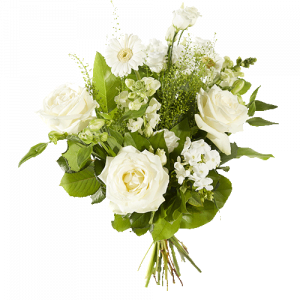 Nice bouquet with several white flowers