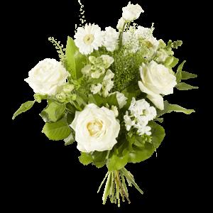 Mooi boeket met verschillende witte bloemen
