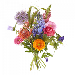 A colourful picked bouquet to congratulate someone with an achievement