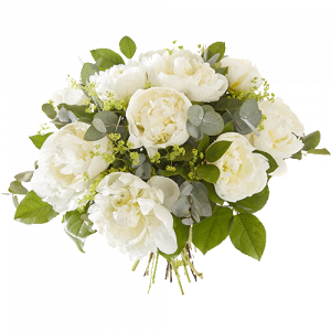 Bouquet with white peonies
