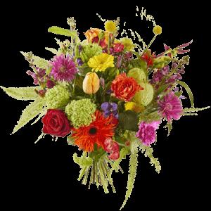 Voorjaarsboeket met felle vrolijke kleuren