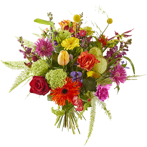 Spring bouquet in bright colours