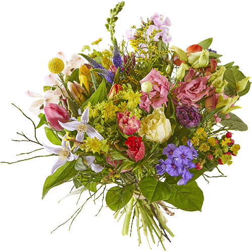 Spring bouquet in happy colours