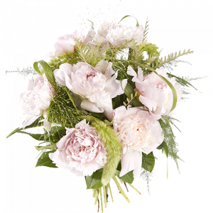 Bouquet with sweet pink peonies
