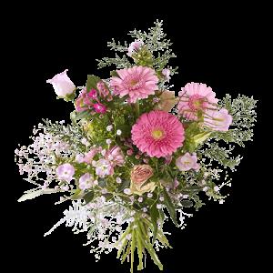 Boeket met roze bloemen 'Omdat je zo bijzonder bent'!