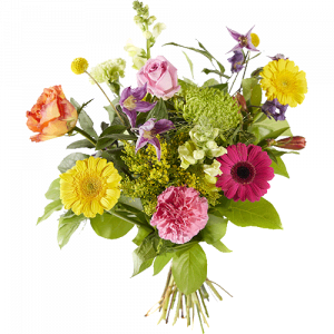 Beaming colourful picked bouquet
