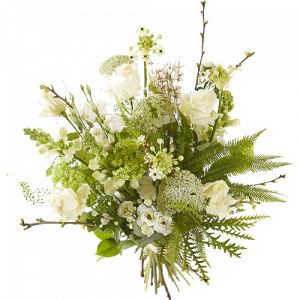 Spring bouquet with white flowers