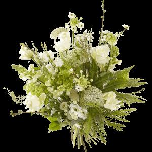 Voorjaarsboeket met witte bloemen