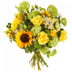 Spring bouquet with yellow flowers