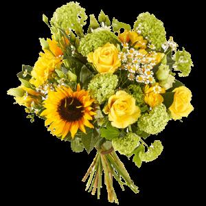 Voorjaarsboeket met gele bloemen