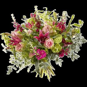 Prachtig luxe boeket 'Passievol' met mooie luxe bloemen