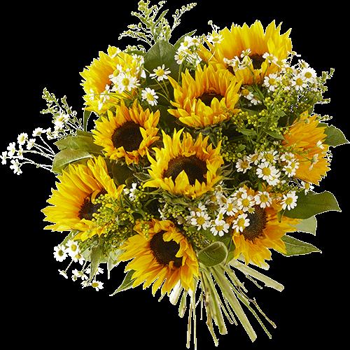 Zomerboeket Vakantiegevoel met prachtige zonnebloemen