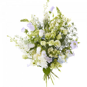 Summer bouquet Full moon made with white and lilac flowers
