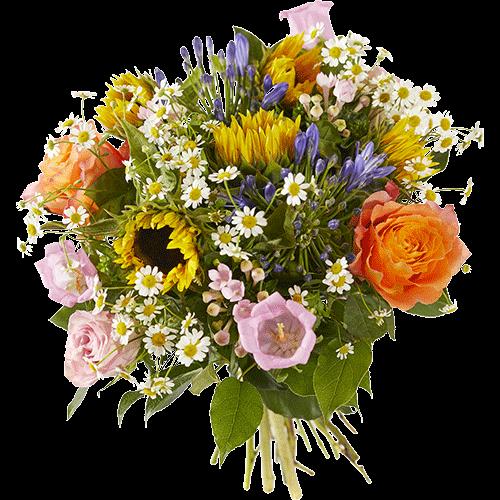 Zomerboeket Zachte_zomer met vrolijke seizoensbloemen