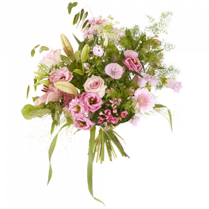 Summer Sweet bouquet with flowers in soft pink