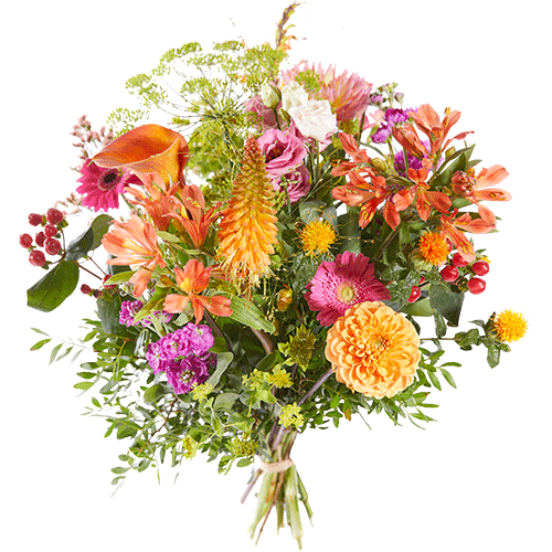 Fall joy is a nice autumn bouquet made with flowers in cheerful light autumn shades