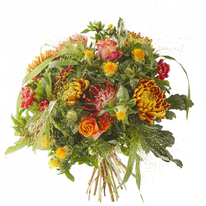 Warm fall is a lovely autumn bouquet made with flowers in warm autumn shades