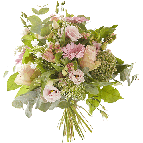 Soft fall is an autumn bouquet made with lovely pink flowers