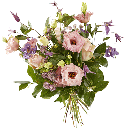 Soft late summer is an autumn bouquet made with pink and lilac flowers