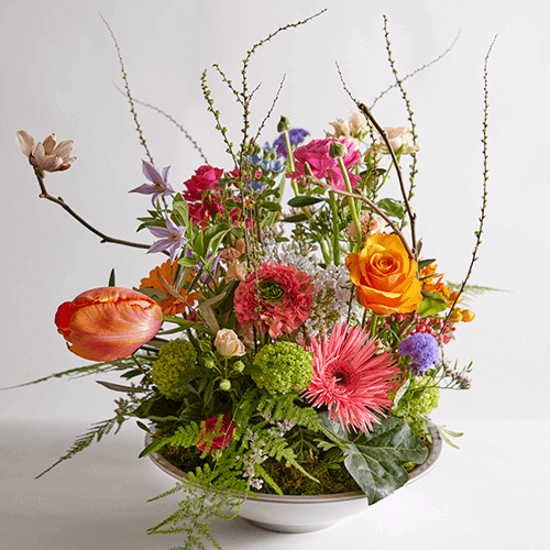 Uitbundig kleurrijk bloemstuk